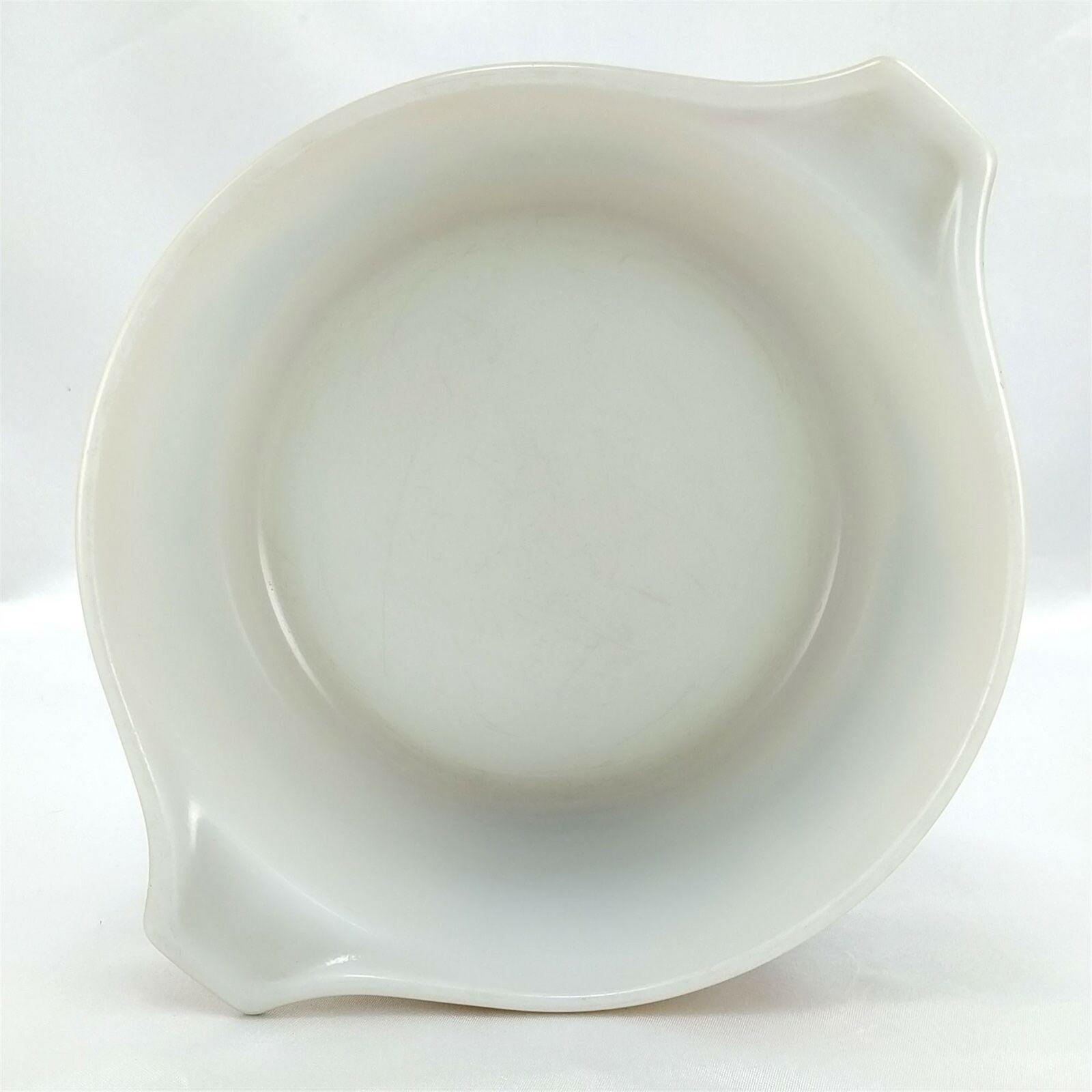 Pyrex 473 Homestead Blue Floral Speckled Vintage Baking Serving Casserole Dish image 5