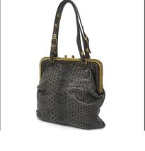 Bottega Veneta Charcoal Gray Brown Python Handbag free shipping from Japan - $3,019.50