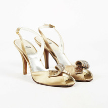 Stuart Weitzman Curlique Satin Crystal Sandals SZ 8.5 - $45.00