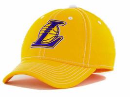 Los Angeles LA Lakers adidas M401Z NBA Basketball Team Stretch Fit Cap Hat L/XL - $18.99
