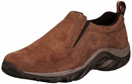 Merrell Mens Jungle Moc Nubuck Loafers & Slip-Ons Wide Shoes Brown - $80.75
