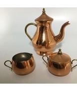 ODI  Solid Copper Tea Kettle/Pot, Creamer & Sugar Bowls- Made in Portugal - $33.65