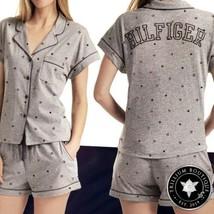 Tommy Hilfiger Women's 2-piece Gray (Flag) Pajama Short Set XL NWT NEW! - $69.19