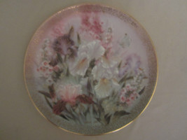 IRIS QUARTET collector plate LENA LIU Symphony of Shimmering Beauty FLOWERS - $28.00