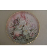 IRIS QUARTET collector plate LENA LIU Symphony of Shimmering Beauty FLOWERS - $28.00