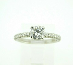 Platinum Genuine Natural Diamond Engagement Ring 1.33cts (#J2076) - $3,595.00