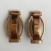 Renoir Modernist Copper Clip On Earrings Vintage Signed Open Work - $19.75