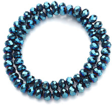 2strand/lot 4/6/8mm Royal Blue Color Round Loose Spacer Bicone Rondelle ... - $26.92+