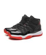 Men's Air Jordan 11 Shoes Michael Jordan Black Basketball Shoe - $96.99