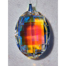 Swarovski 32mm Crystal Lattice Oval Prism image 3