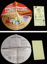 The Simpsons Tombstone Pizza Label 1995 & Ice Capades Flyer 1990 - $16.99