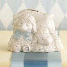 Lenox Lazy Lambs Childs Bank For Boy Or Girl Nursery Room - $75.00