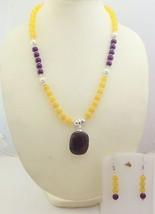 Huge Bronzite Jasper + Multi Quartz Beaded Necklace FO-110 - $6.92