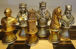 MEDIEVAL TIMES CRUSADE BUSTS chess men set Gold Silver - No Board - $97.85