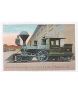 First Engine Central Pacific Railroad Train Sacramento California 1910c ... - $9.85