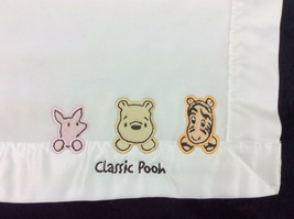 Classic Winnie The Pooh Baby Security Blanket Off White Pooh Piglet Tigger Mini - $26.93