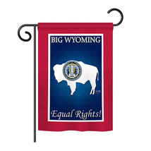 "Wyoming - 13"" x 18.5"" Impressions Garden Flag - G158189 - $17.97"