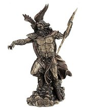 "11.75"" God of Gods Zeus Fighting Statue Greek Figurine Eagle King Thunde... - $69.98"