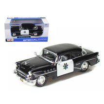 1955 Buick Century Police Car Black and White 1/26 Diecast Model Car by ... - $28.66