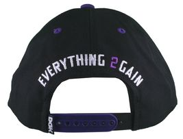 DGK Dirty Ghetto Kids Black Purple Nothing To 2 Lose Snapback Baseball Hat NWT image 4