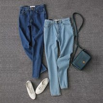 Classic Jeans For Women In High Waist Pencil Pants For Walking Around The City - $89.99