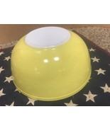 Vintage Pyrex Primary Yellow Mixing Bowl 4 Qt #404 Nesting Oven Ware Lar... - $21.77