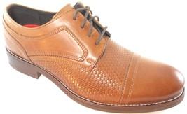 Rockport V82995 Men's Cognac Wyat Cap Toe Leather Shoes Sz 8.5 Wide(W) - $78.99
