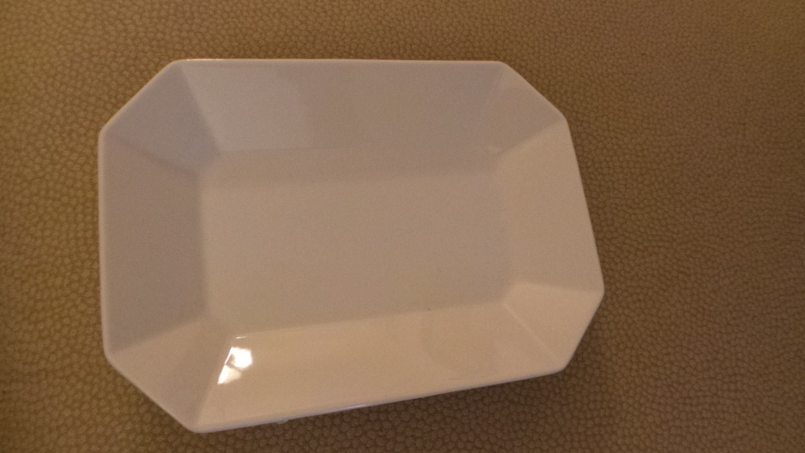 "unused Lenox Entertain 365 Porcelain Lite Bite Plate 6"" x 8 1/4"" x 1 1/4 Exc"