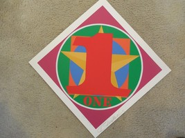 """Robert Indiana """"ONE"""" Hand Signed & Numbered Ser... - $2,227.50"""