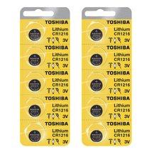 Toshiba CR1216 3 Volt Lithium Coin Battery (10 pcs) - $8.09