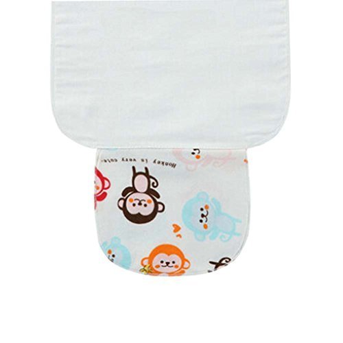3 PCS Monkey Pattern Babies Towels for Sweat Absorbent, 25.5x20 cm