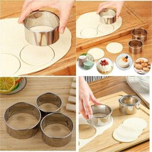 3Pcs/Set Stainless Steel Round Dumplings Wrappers Molds Set Cutter Maker... - $48.50