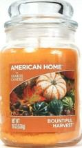 1 American Home By Yankee Candle 19 Oz Bountiful Harvest 1 Wick Glass Ja... - $26.99