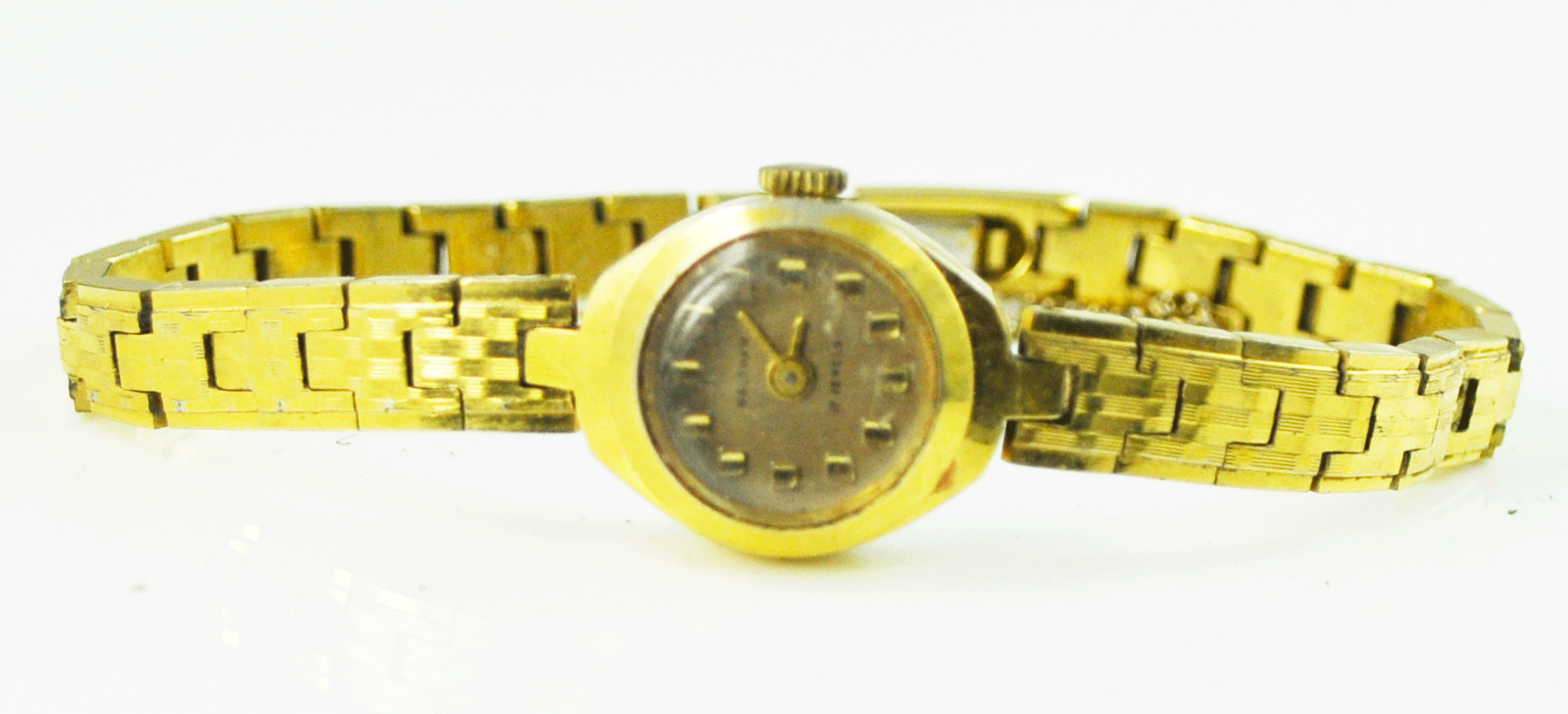Vintage Women's Waltham Gold Tone 17mm Manual Wind Wristwatch Not Running - $9.89