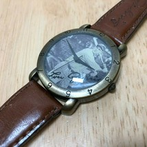 Vintage Lou Gehrig Baseball Men Bronze Finish Analog Quartz Watch Hours~... - $17.09