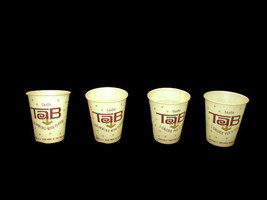 Set of 4 Vintage TAB sample cups - UNIQUE ITEM - $10.88