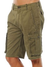 Levi's Men Premium Cotton Cargo Shorts Original Relaxed Fit Green 124630008