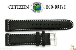 Citizen 59-S53002 22mm Black Leather Watch Band Strap AW1361-01E 4-S090822 - $64.95