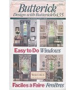 OOP Butterick Home Decor Pattern 6435. Easy to Do Window Treatments - $14.80