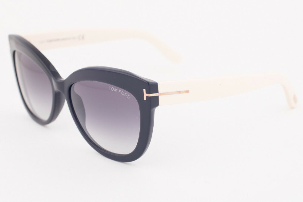 Primary image for Tom Ford Alistair Black Beige / Gray Gradient Sunglasses TF524 05B
