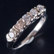 Vintage 1940's 14k White Gold Round Diamond Wedding Anniversary Band .50ctw - $1,430.00