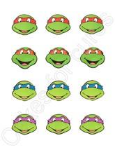 TMNT Teenage Mutant Ninja Turtles Edible Cupcake Images Cupcake Toppers - $8.98+