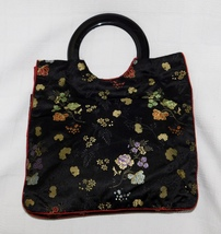 APRIL CORNELL for Cornell Trading Floral Embroidered Handbag Tote