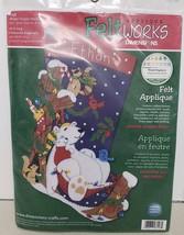 Dimensions Felt Works Winter Snooze Felt Christmas Stocking Kit  8158 Po... - $34.65