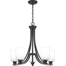 Pruitt 5-Light Chandelier in Matte Black - $369.99