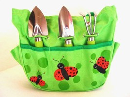 Gardening Kit My First Garden Ladybug Tote Spade Rake Trowel Set for Chi... - $14.84