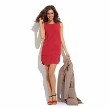 LA REDOUTE 60's Style Sleeveless RED Dress in stretch Fabric SIZE UK 8 - $23.51