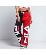 NEW $74 FILA Barbara Wide Leg Sweat Pants Red White & Blue sz S - $60.19