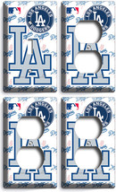 Los Angeles Dodgers La Baseball Team Light Switch 3 Outlet Plate Set Room Decor - $35.09