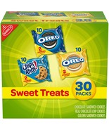 Nabisco Sweet Treats Oreo Cookie Oreo Golden & Chips Ahoy 30 Snack Varie... - $11.87